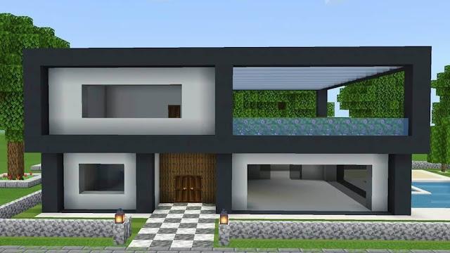 Make Modern House In Minecraft
