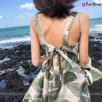 Váy maxi đi biển V520