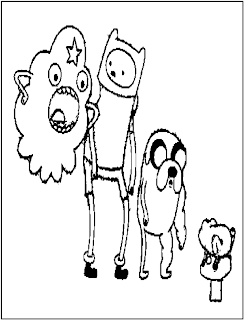 adventure time coloring pages online | FCP