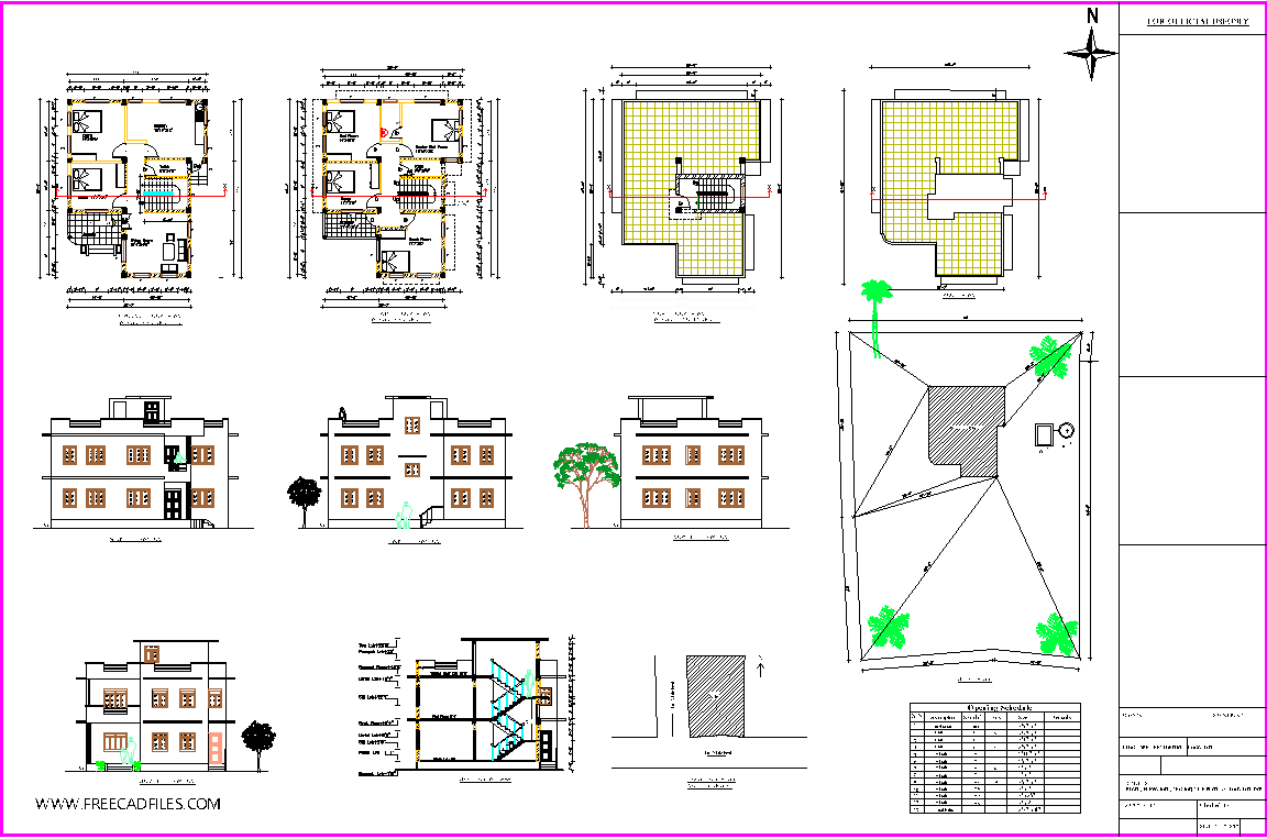 Residential Building Submission Drawing 30 X40 Dwg Free Download