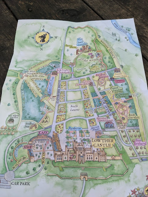 The Best Adventure Playground in the Lake District (Lowther Castle) - map