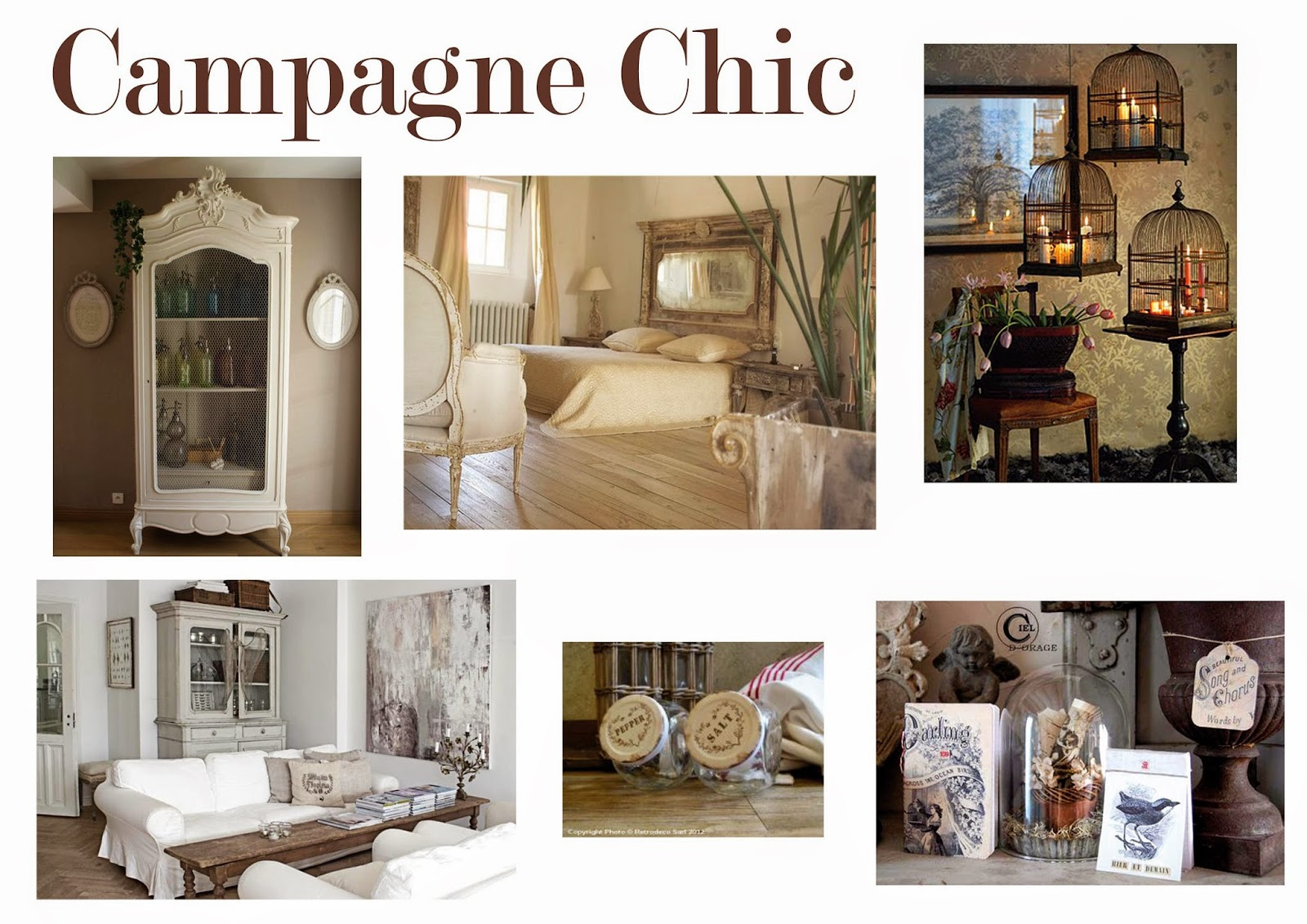 Deco Chic Campagne Girly Dans L 39ombre Inspiration Déco Campagne Chic