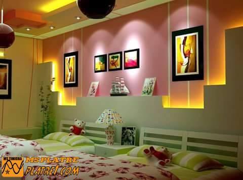 Décor de mur en plâtre pour les chambre
