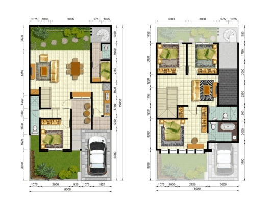 Desain Rumah Luas Tanah 60 Contoh Sur