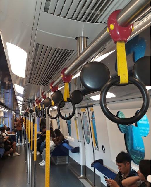 Hong Kong Disneyland train inside