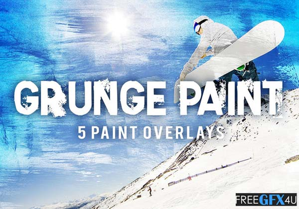 5 Grungy Paint - 5 Overlay Paint Textures
