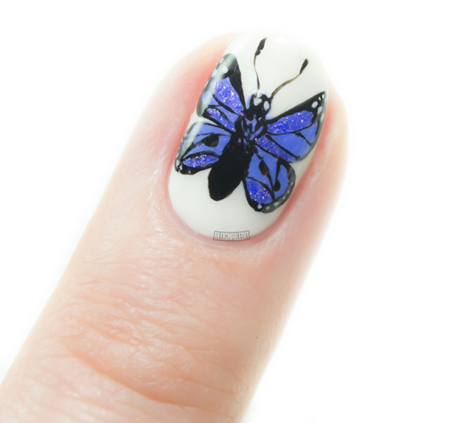 Butterfly in the Polish by Katy @ Nailed It www.blognailedit.co