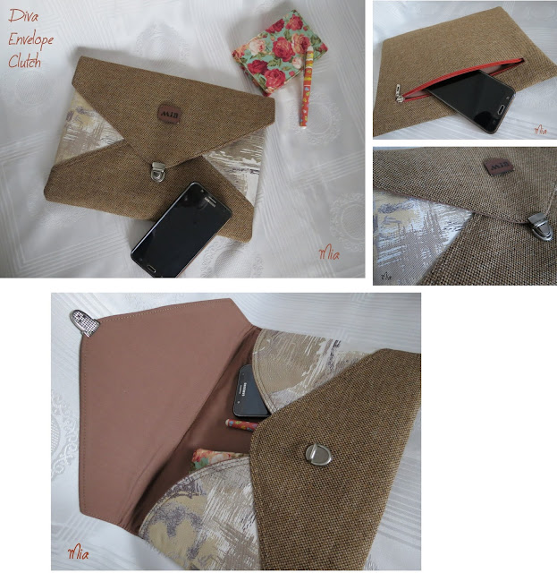 Diva Envelope Clutch crafted by Mia Creates