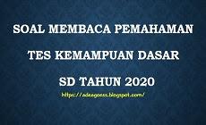 Download Soal Membaca Pemahaman Tes Kemampuan Dasar (TKD)  SD Tahun 2020 Beserta Kunci Jawaban