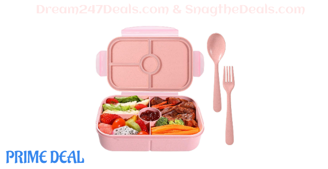 Kids Lunch Containers with 4 Compartments 50% off