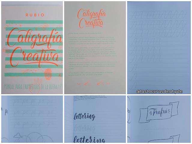 Libro caligrafia creativa de Rubio