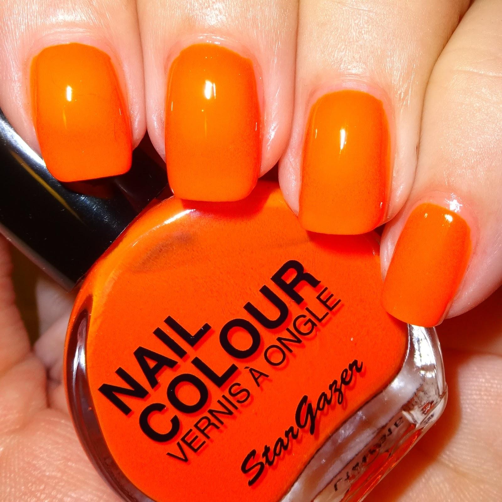 Wendy\'s Delights: Stargazer Neon Orange Nail Polish