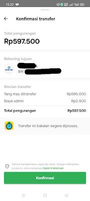 Gopay transfer ke Rekening Bank