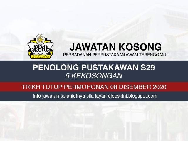 Jawatan Kosong Perbadanan Perpustakaan Awam Terengganu (PPAT) Disember 2020