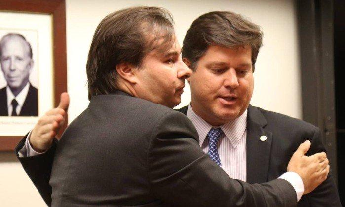Baleia Rossi e Rodrigo Maia