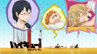 Hellominju.com: ハイキュー!! アニメ   烏野アイキャッチ 第2期 日向翔陽    清水潔子   谷地仁花   Haikyū!! Commercial Break    Hello Anime !