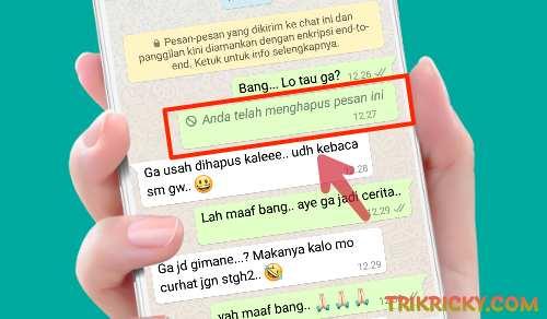 Cara Mengetahui Isi Pesan Whatsapp Yang Dihapus Pengirim