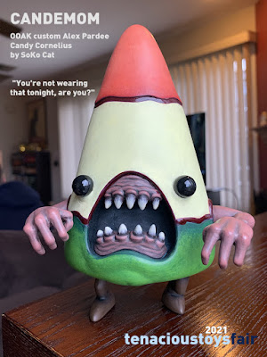 Tenacious Toys Exclusive Candemom Custom Cornelius Vinyl Figure by SoKo Cat x Alex Pardee
