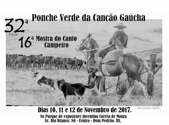 Abertas as inscrições para o 32º Ponche Verde da Canção Gaúcha
