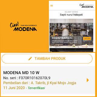 layanan purna jual Modena MD 100W