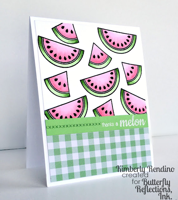 fruit | clear stamps | sunny studio stamps | kimpletekreativity.blogspot.com | butterfly reflections, ink. | handmade card | papercraft | thank you card | cardmaking