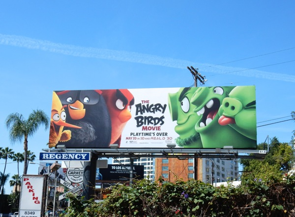 Angry Birds Movie billboard Sunset Strip