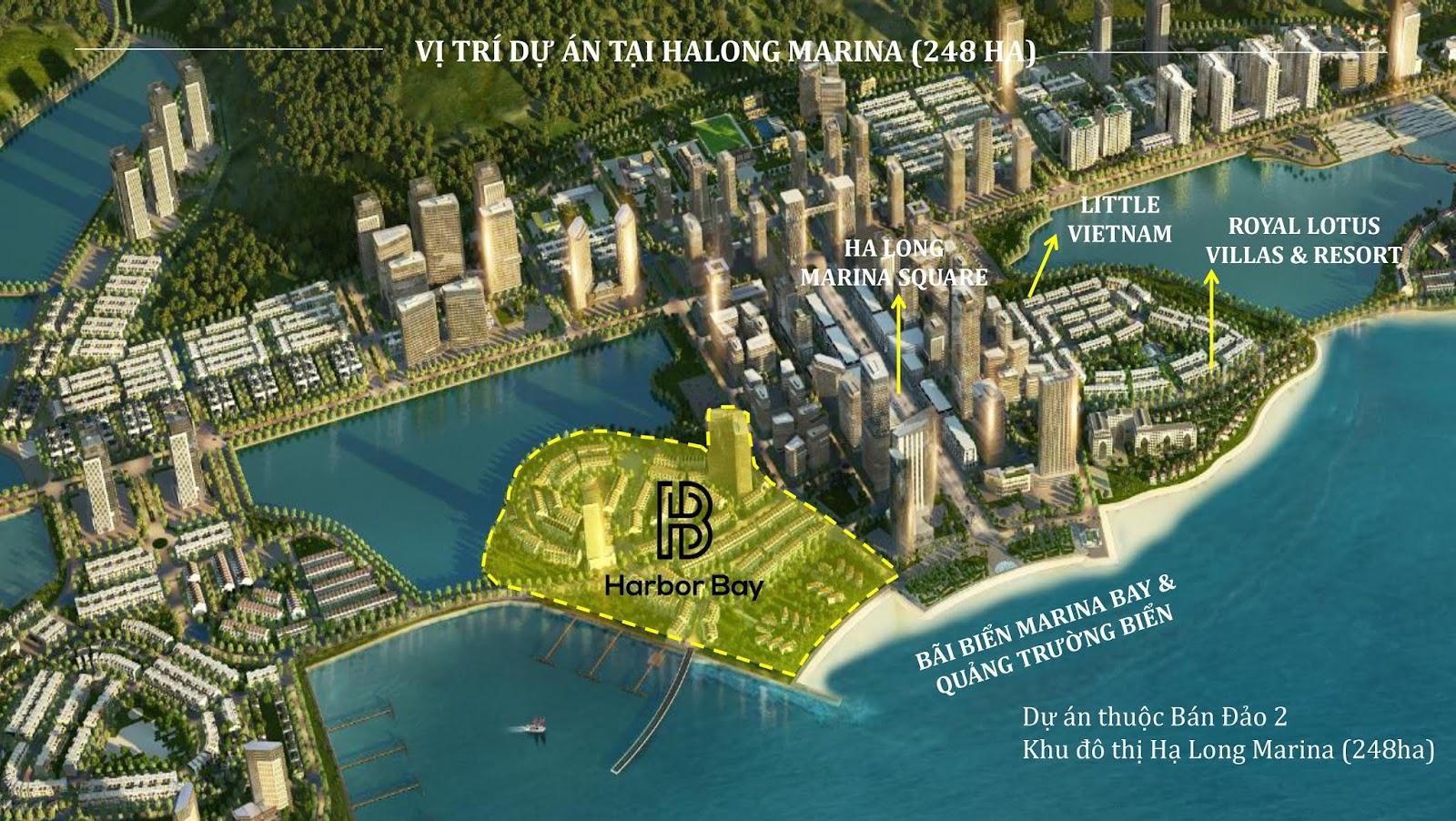 Quy hoạch khu đô thị Hạ Long Marina và vị trí dự án Harbor Bay