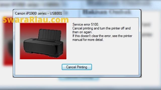 Error 5100 di Printer Canon IP2770