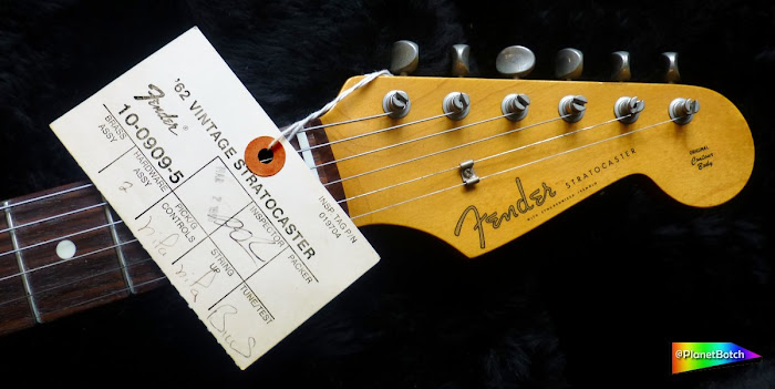 Fender USA Vintage Reissue Stratocaster inspection tag 2 March 1990