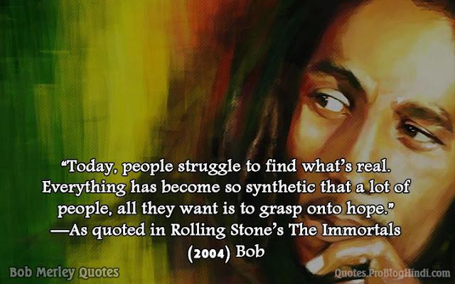 bob marley quotes on life