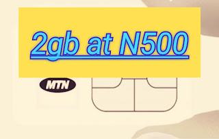 [MTN] Yadda zaka sayi 2gb a kan kudi Naira 500 kacal