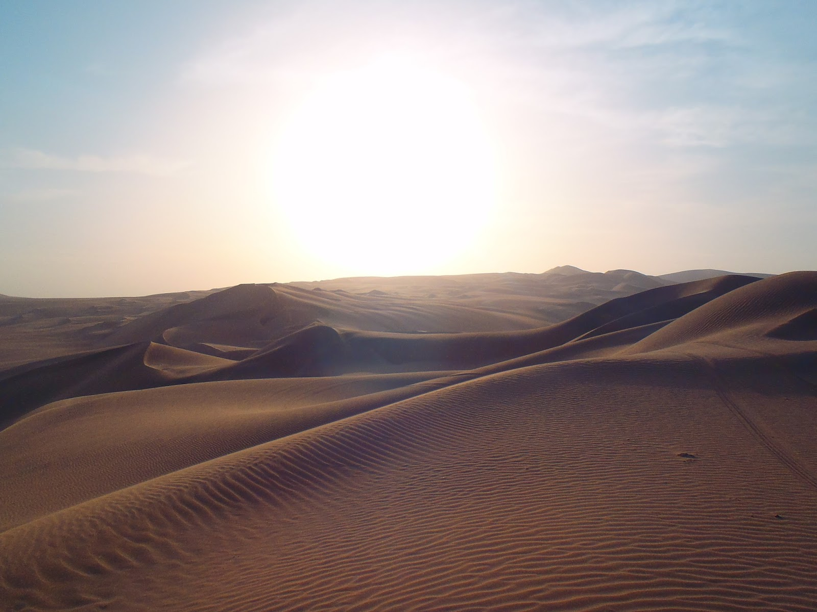 Sand dunes in Huacachina