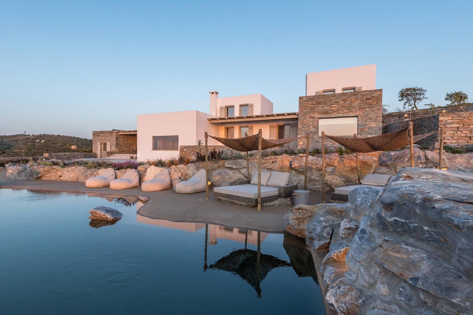 Villa Lefko on Kea island, Greece
