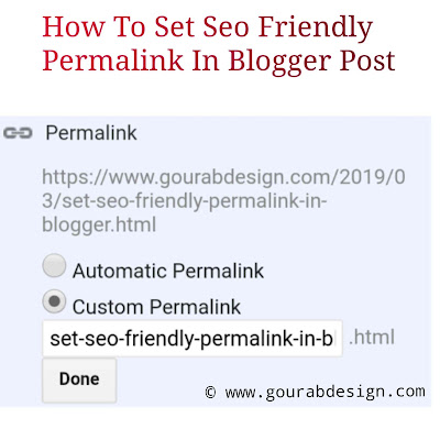 How To Set Seo Friendly Permalink In Blogger Post