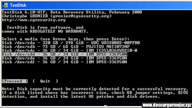 Descargar TestDisk Data Recovery