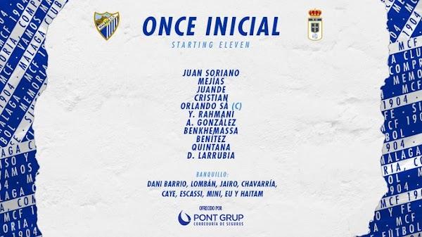 Málaga - Oviedo, alineaciones oficiales