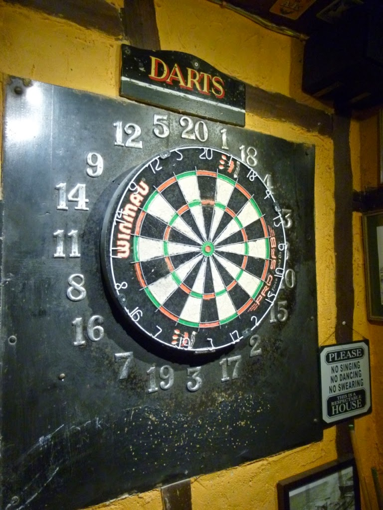 Darts at The Cock Inn, Luddesdowne