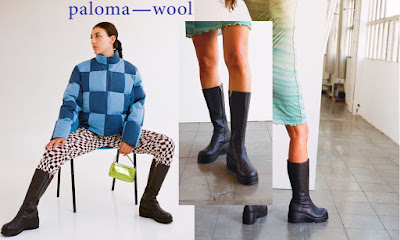 paloma wool black leather boots