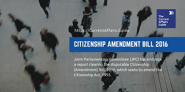 Citizenship Amendment Bill 2016