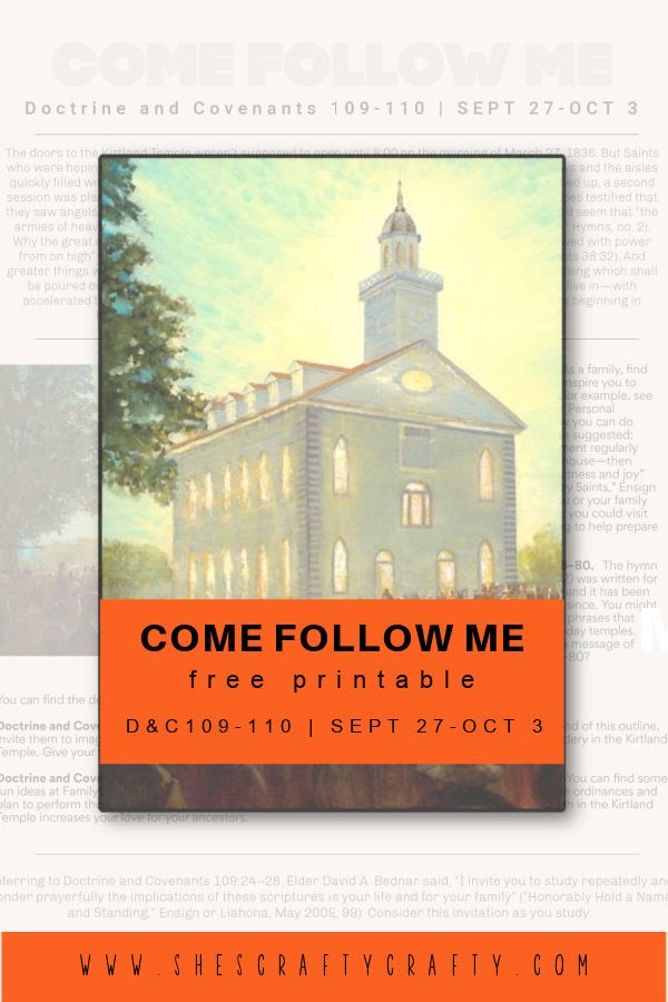 Come Follow Me Free Printable to study at home pinterest pin