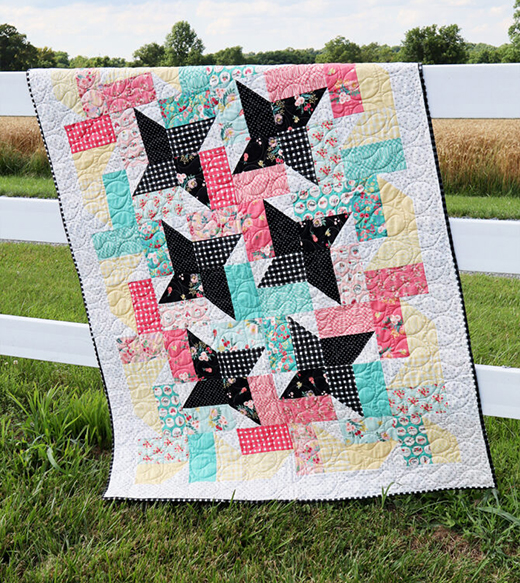 Fat Quarter Ferris Wheel Quilt designed by Bev Mccullough of Flamingo Toes