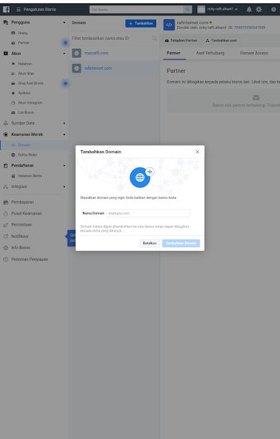 Cara Verifikasi Kepemilikan Domain di Facebook Terbaru