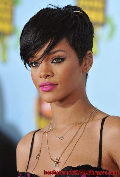 Rihanna Short Hairstyles   Best Hair Trends 2013