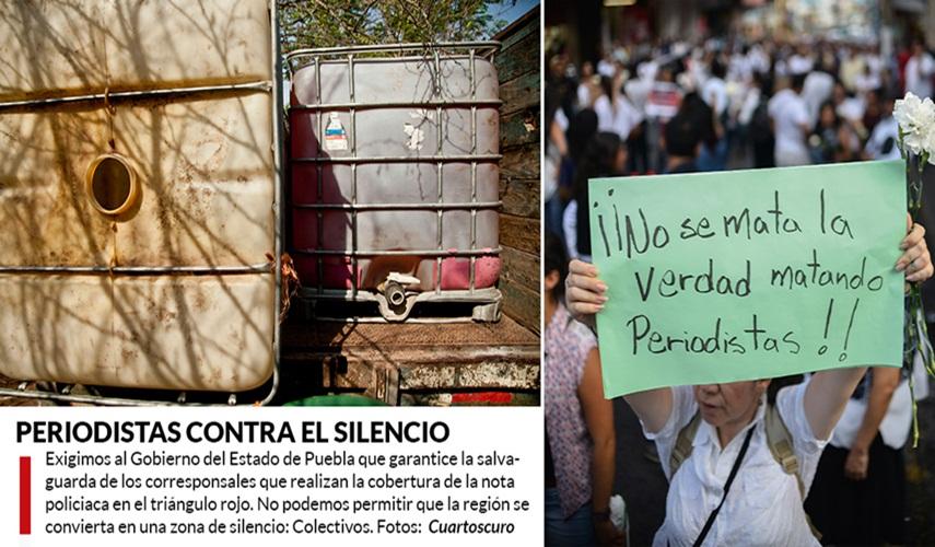 """""""Chupaductos"""" de Puebla ofrecen hasta 10 mil por la vida de cada reportero que hable del tema"""