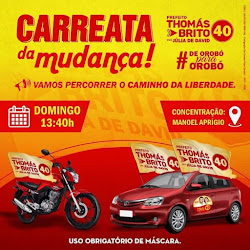 DOMINGO HAVERÁ CARREATA DO 40, EM OROBÓ, THOMÁS BRITO E JÚLIA CONVIDAM A TODOS (AS)!!!