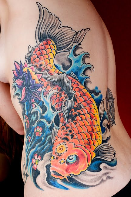 Carp Fish Tattoo Images Designs: Tattoo Dewo: Koi Fish Tattoo Design