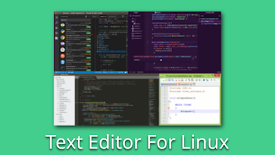 Text Editor For Linux