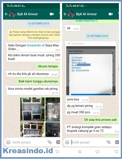 Rak Piring Aluminium pesanan PT Sinergi Komplek Green Sedayu Bizpark Cakung Jakarta