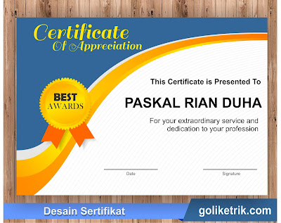Download Certificate of Appreciation Templates Docx And CDR free
