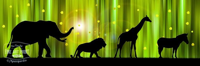 http://www.fineartprint.de/bilder/afrika-tier-silhouetten-im-zauberwald-i,11171502.html